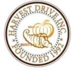 Logo of Harvest Drive, Inc.  Circle with name around edges including Founded 1992 and center picture of pumpkin and harvest basket