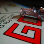 "Picture of the the word ""GO"" at the beginning of the Monopoly board"